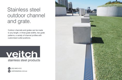 Stainless steel outdoor grate from Veitch