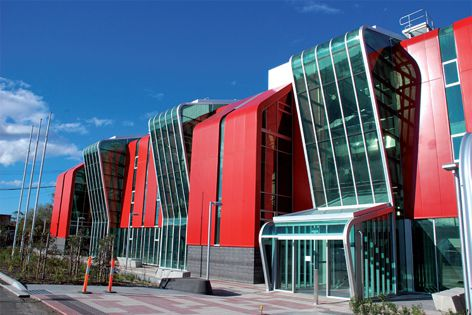 Melbourne's new Metropolitan Fire Brigade building features curved double-glazed units from BCG.