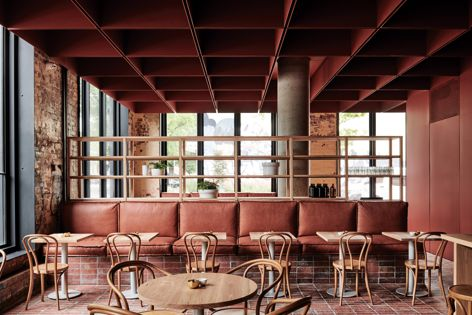 Bentwood Cafe by Ritz and Ghougassian, winner of the Best Cafe Design category. Photography: Tom Blachford.