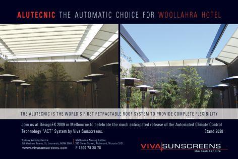 Viva Sunscreens Alutecnic roof