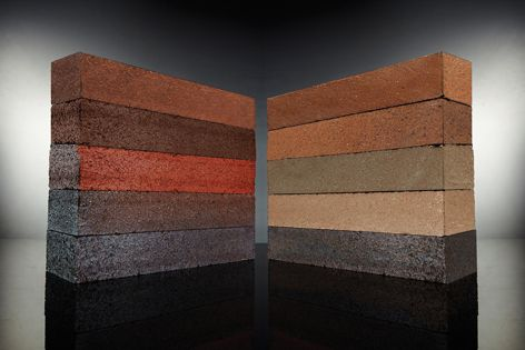 The Linear dry pressed range provides a modular brick in a long, thin style.