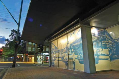 HPWF digitally printed film achieves a stunning effect on windows at Adco Construction's North Sydney office.