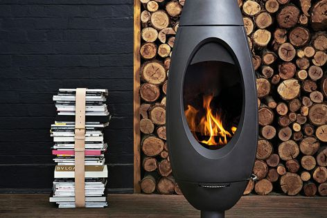 Ove is a beautiful freestanding, wood-burning fireplace made from cast iron.