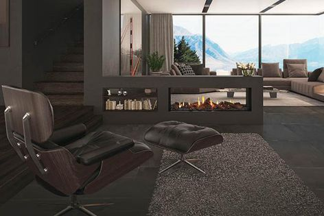 DS1400 gas fireplace by Escea