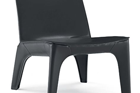 The BB easy chair is covered in hide skin and available in a range of colours.