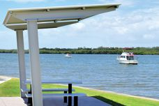 Cantilever shelter range from Landmark Products