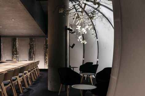 Ishizuka by Russell and George, winner of the Best Restaurant Design category. Photography: Felix Forest.