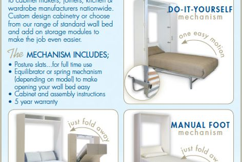 Wall bed mechanism from Pardo
