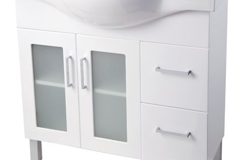Virtue is available with a semi-recessed or square vitreous china top in four sizes.