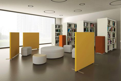 Caruso by EO acoustic panels comprise a metal frame, an internal sound-absorbing material and a removable and washable fabric.