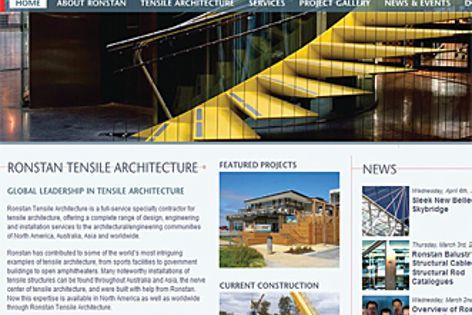 Ronstan Tensile Architecture website