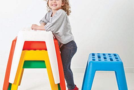 The Milk stool is UV resistant and GECA certified.