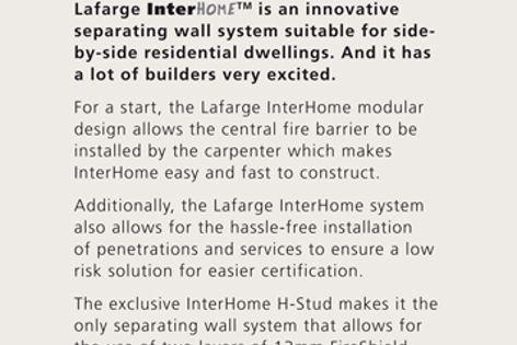 Lafarge InterHome wall system