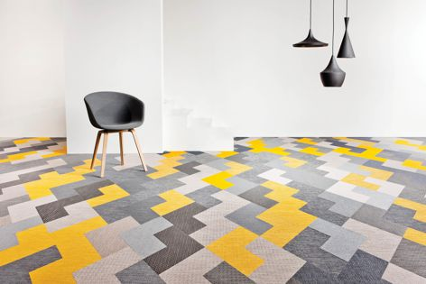 Wing carpet tile by Bolon offers great design flexibility.
