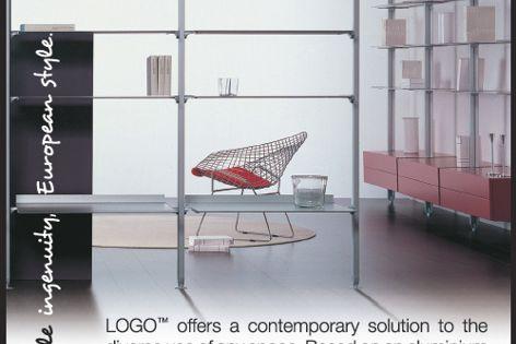 Logo shelving by Display Design