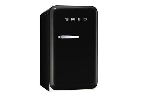 The new FAB 5 retro refrigerator by Smeg, in Jet Black.