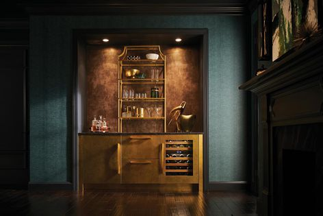The Undercounter Wine Storage from Sub-Zero has adjustable LED accent lighting that creates the perfect ambience.