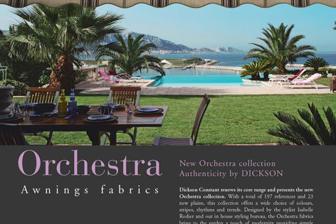 Dickson Orchestra awning fabrics