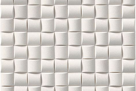 Ecocarat Precious Mosaic Vele tile, seen here in white, is available in four shades.