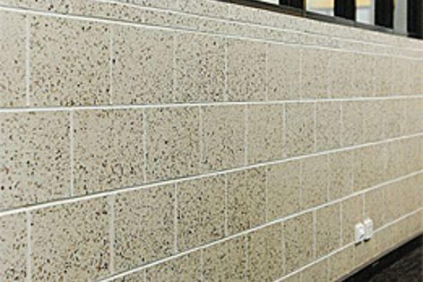 Designer Masonry blocks in a honed finish.