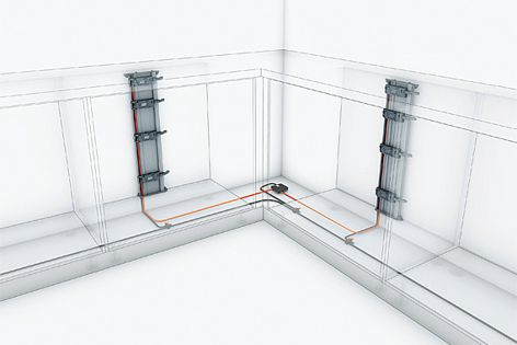A cable connecting the Servo-Drive units to Combox prevents a collision of drawers in corners.