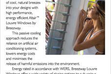 Energy efficient louvre windows