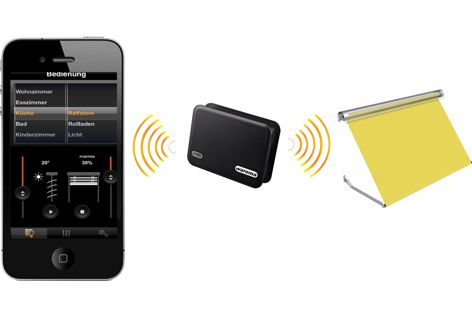 Wirelessly control sunshading products with the WAREMA app.