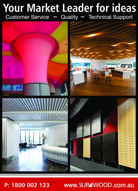 Architectural lining systems from Supawood