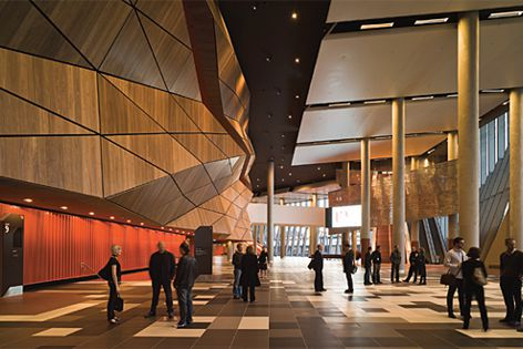 Melb. Convention and Exhibition Centre by Woods Bagot with NH Architecture. Image: Peter Bennetts.