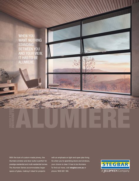 Alumiere window and door suite by Stegbar