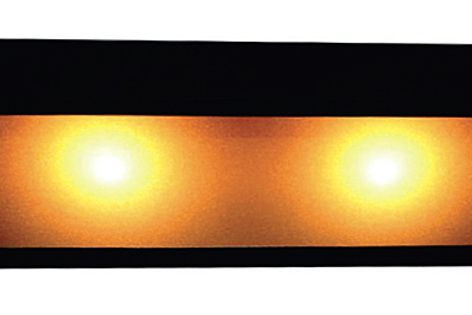 The Orsay 30 LED up-down wall light emits a generous warm light, suitable for use in large spaces.