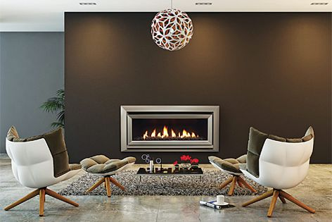 DL1100 gas fireplace from Escea