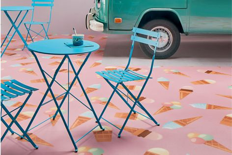 Forbo's Step safety floor collection features bespoke digitally printed designs.