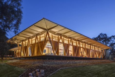 The mass timber facility line is an automated, continuous production process that efficiently and cost-effectively produces mass timber in Australia – for the Australian market.