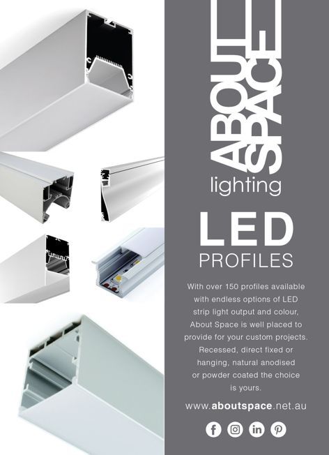 LED profiles from About Space