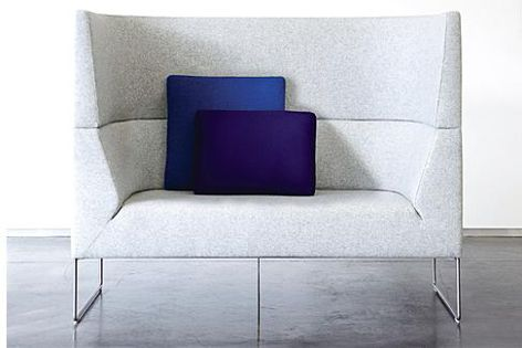 The Mason High Back Lounge is available in a variety of configurations.