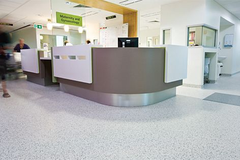Armstrong Infinity flooring can be customized for any colour scheme.