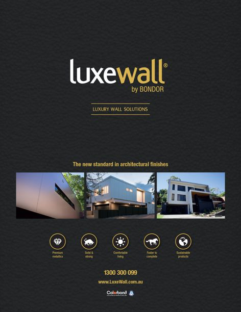 Luxewall walling solutions by Bondor