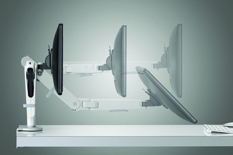 The Ollin monitor arm can support monitors and devices of up to 9 kg.