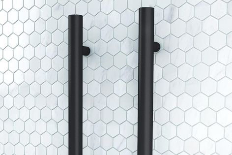 The Uno modular heated towel rail by DCS is designed to complement contemporary bathroom designs.