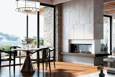 The Real Flame fireplace can be customized to suit your home.