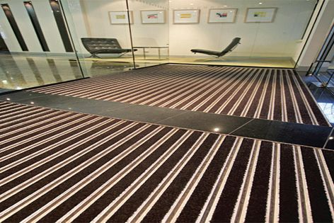 Integra Matting can be cut to any shape, making it suitable for architecturally shaped entrances.