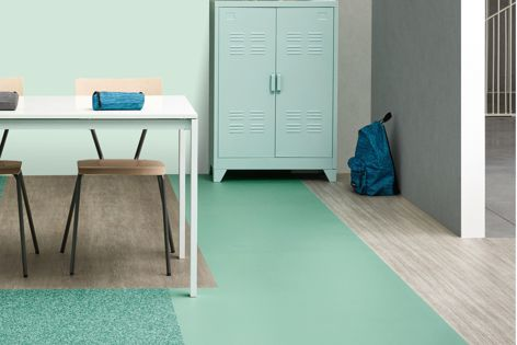 Tarkett's Heterogeneous vinyl collection offers floor and wall solutions and is available in 127 different designs and colours.