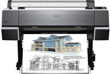 The Epson Stylus Pro 9700 and 7700 are designed to accurately reproduce architectural drawings, etc.
