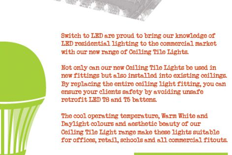 Ceiling Tile Lights by Switch to LED