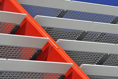 Project architects Dealership Design Services specified Hi-Light concealment louvre panels.