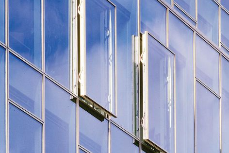 An insulated Schueco Aluminium Window System 114 unit can be specified with glass thicknesses between 24 mm and 44 mm.