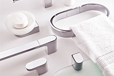 The Mila bathroom accessory range is one of Adesso's latest collections.