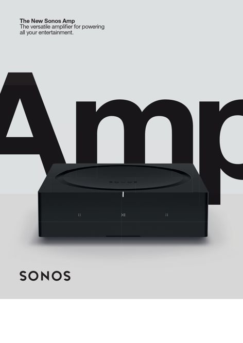 Amp wireless amplifier by Sonos
