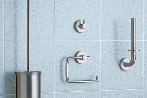 Made from stainless steel, the Bobrick Cubicle collection is attractive and robust.